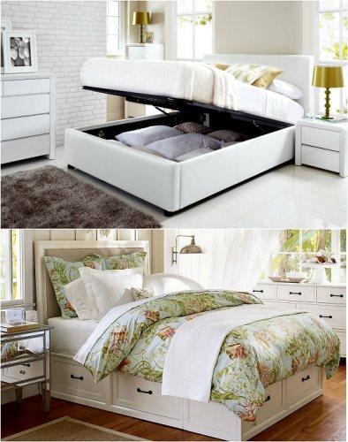 Топ 10 скрытых систем - Кровать со скрытыми ящиками