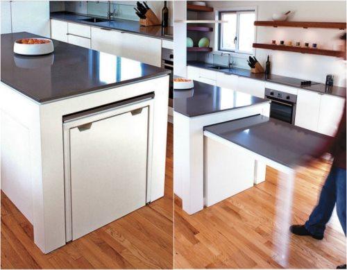Топ 10 скрытых систем - Выдвижной столик на кухне